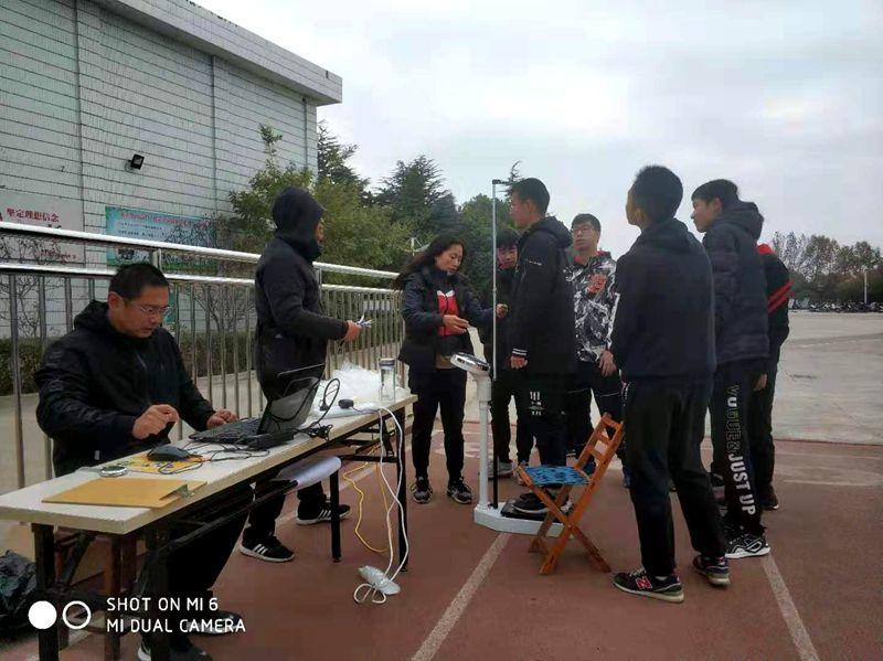 淮北第八高中2019年学生体质健康测试工作有序进行