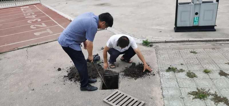 淮北第八高中多措并举防汛排涝保障校园安全
