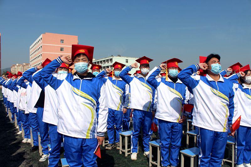 杜集區慶祝建黨100周年暨18歲成人宣誓儀式在淮北八中舉行
