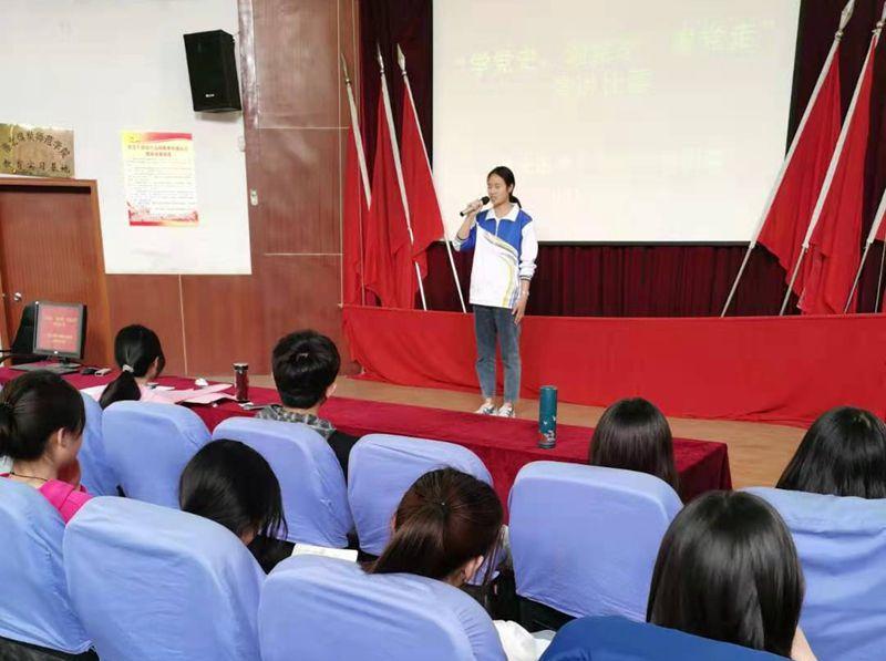 """淮北第八高中举办 """"学党史,颂党恩,跟党走""""演讲比赛"""