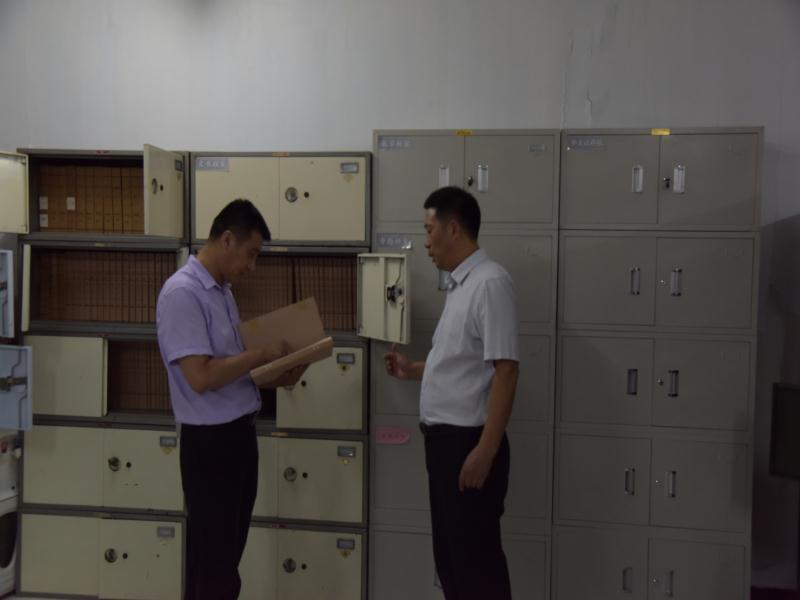 淮北五中迎接市教育局档案工作检